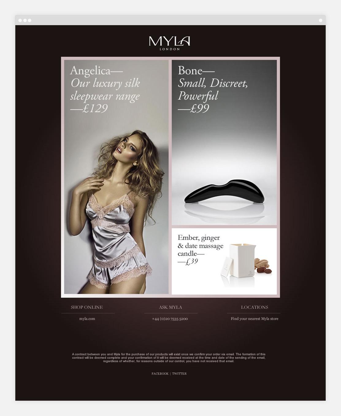 Myla website