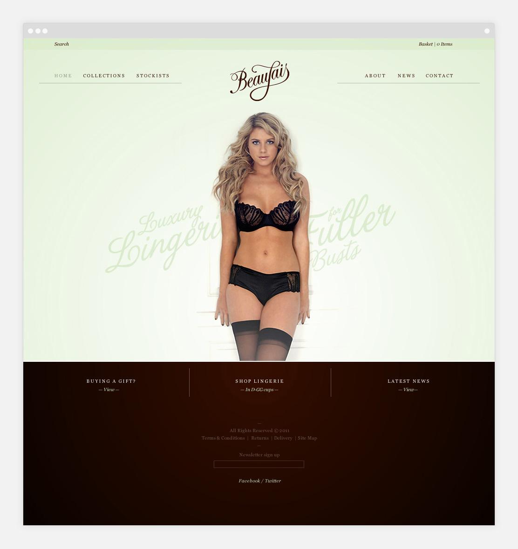 Beaujais website on tablet