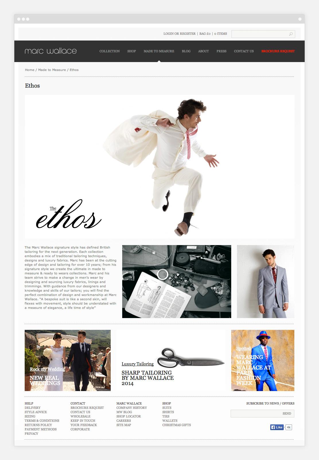 Marc Wallace website on desktop