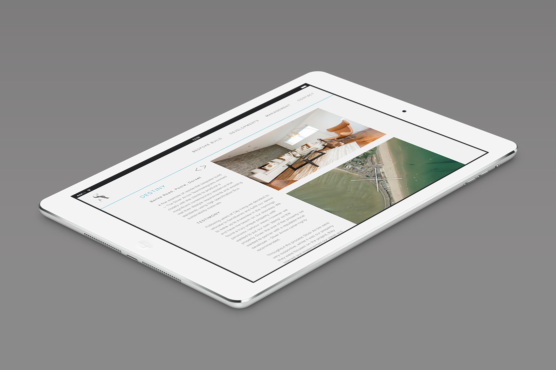 Silver Arrow responsive website on tablet