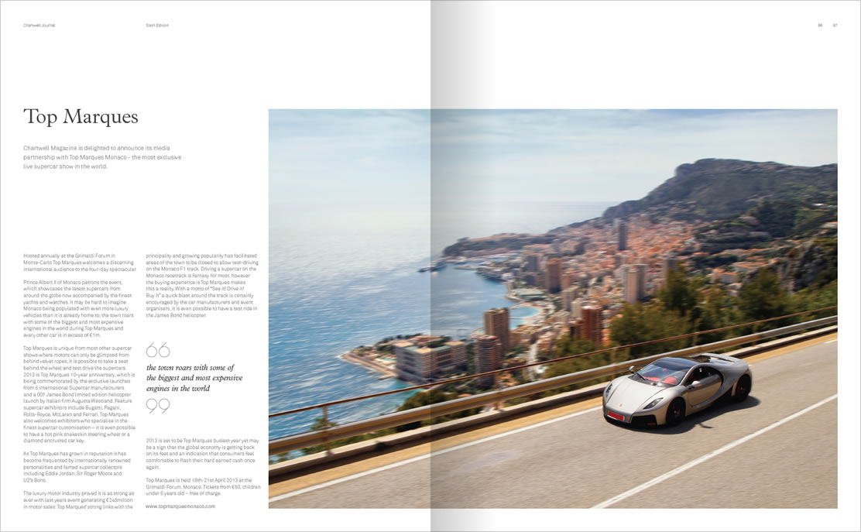 Chartwell journal bespoke magazine design