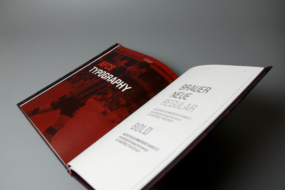 AFC Bournemouth typography guidelines