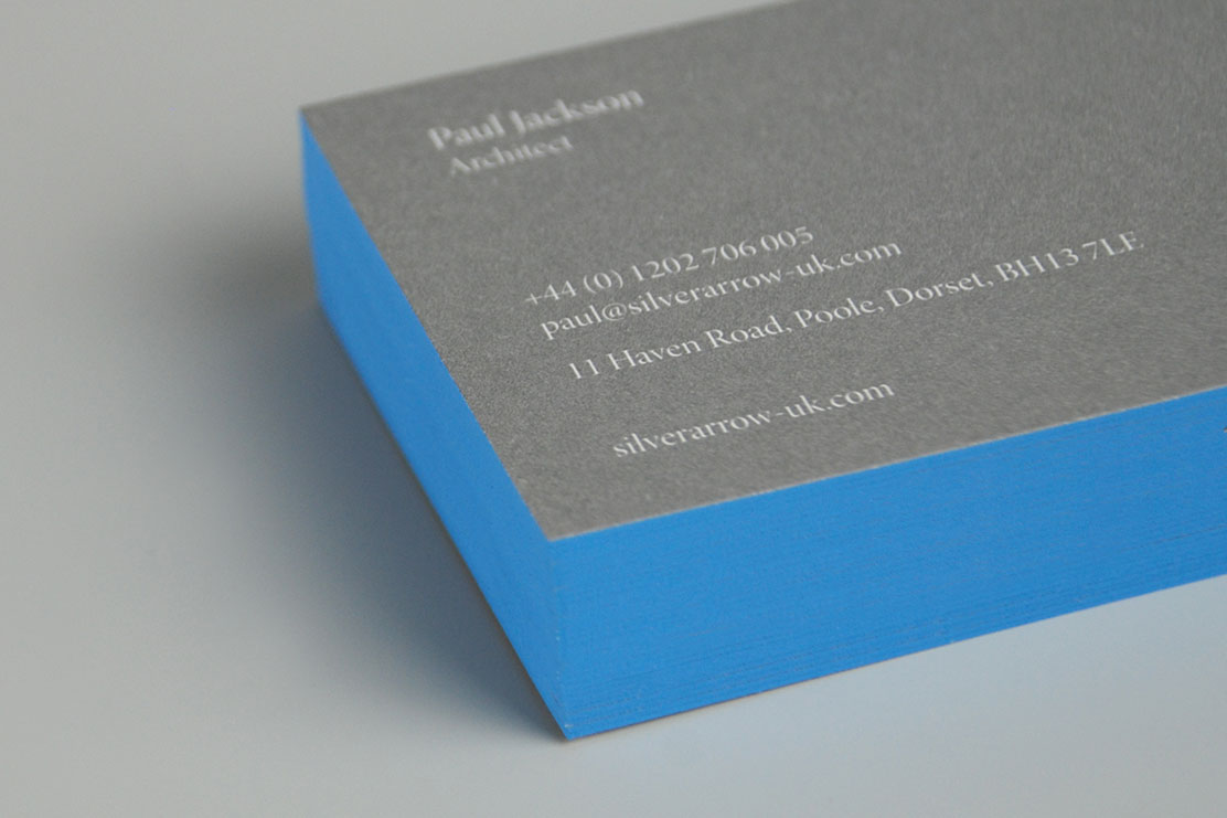 Silver Arrow business cards