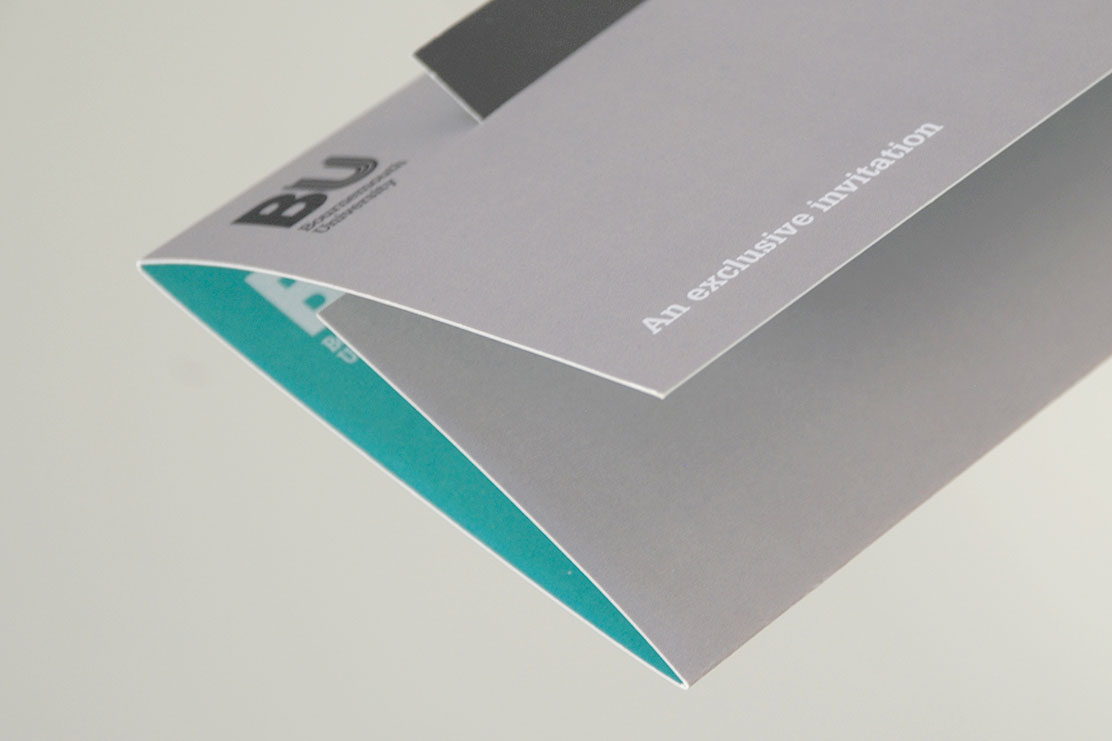 Bournemouth University invitation design