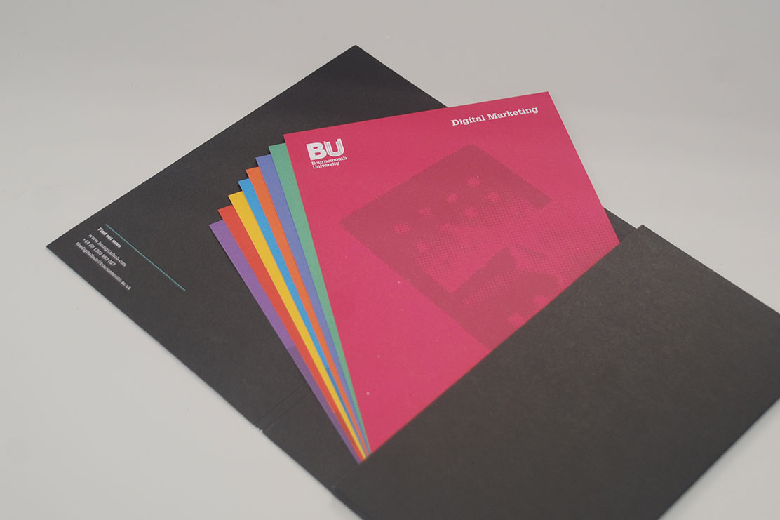 Bournemouth University brochure design