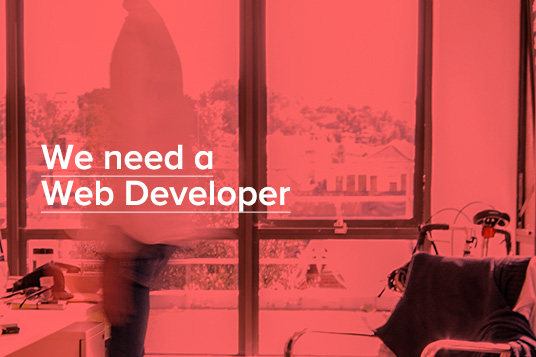 We need a Web Developer