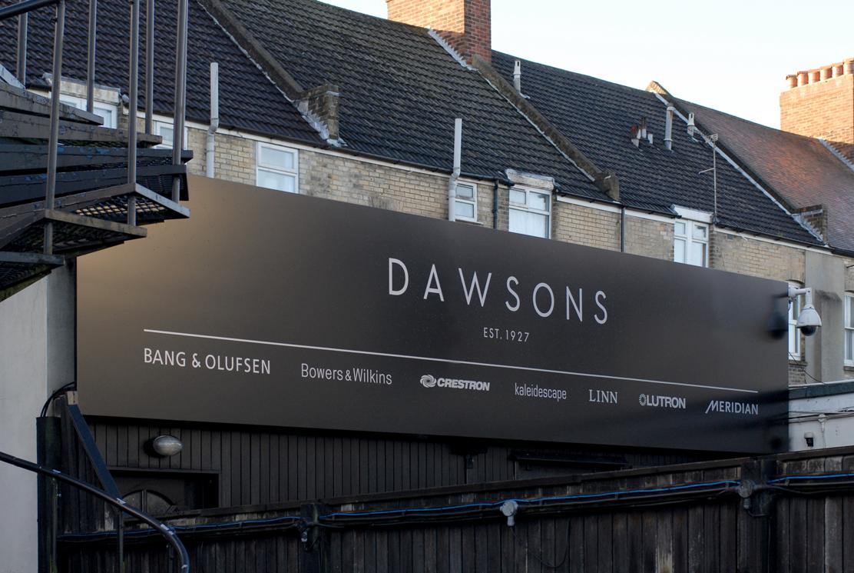 Dawsons signage