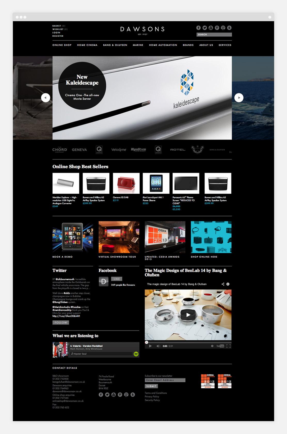 Dawsons website