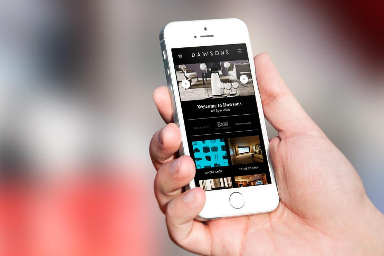 Dawsons website on mobile