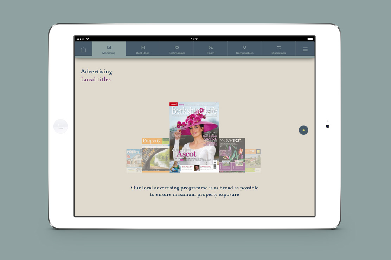 Savills iPad app advertising page