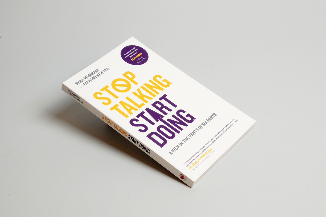 Stop Talking, Start Doing book cover design by Parent