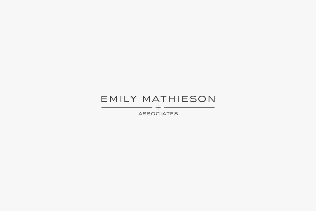 Emily Mathieson & Associates logotype design by Parent