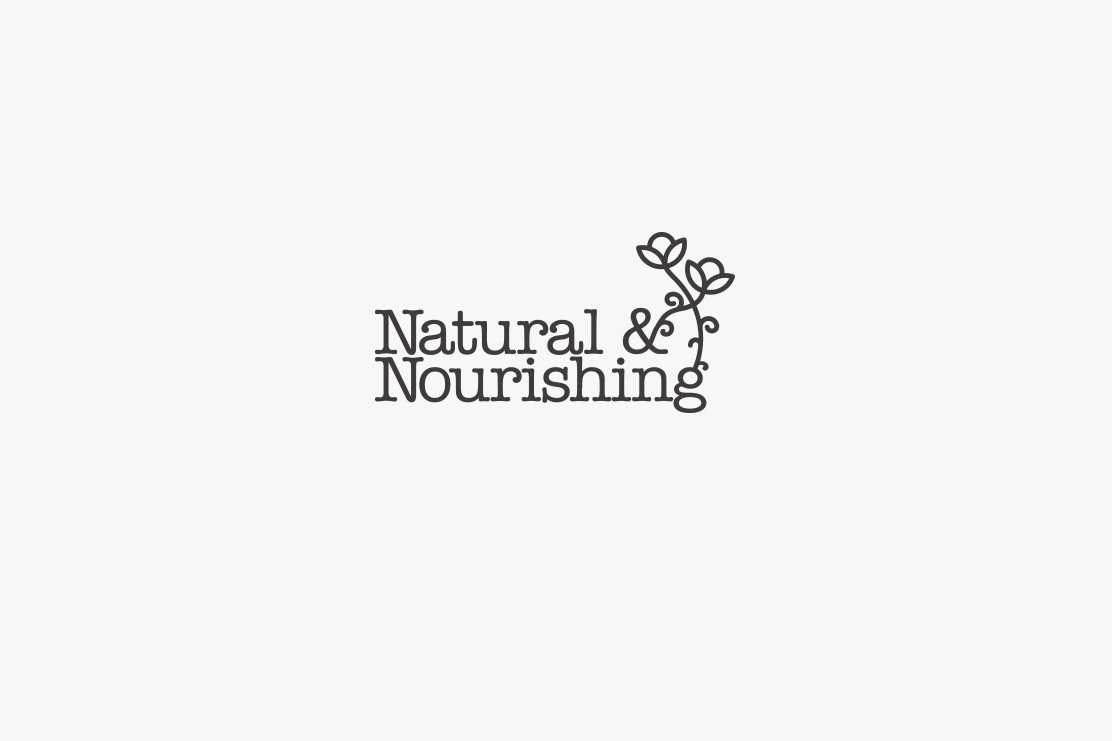 Natual & Nourishing logotype design by Parent