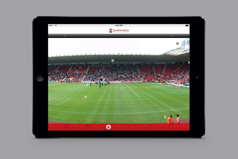 Southampton FC iPad app design