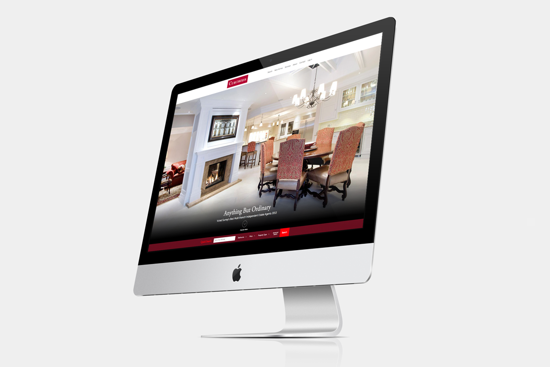 Curchods responsive site on desktop