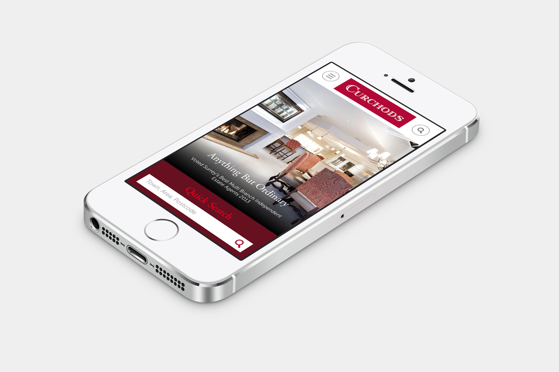 Curchods responsive site on mobile