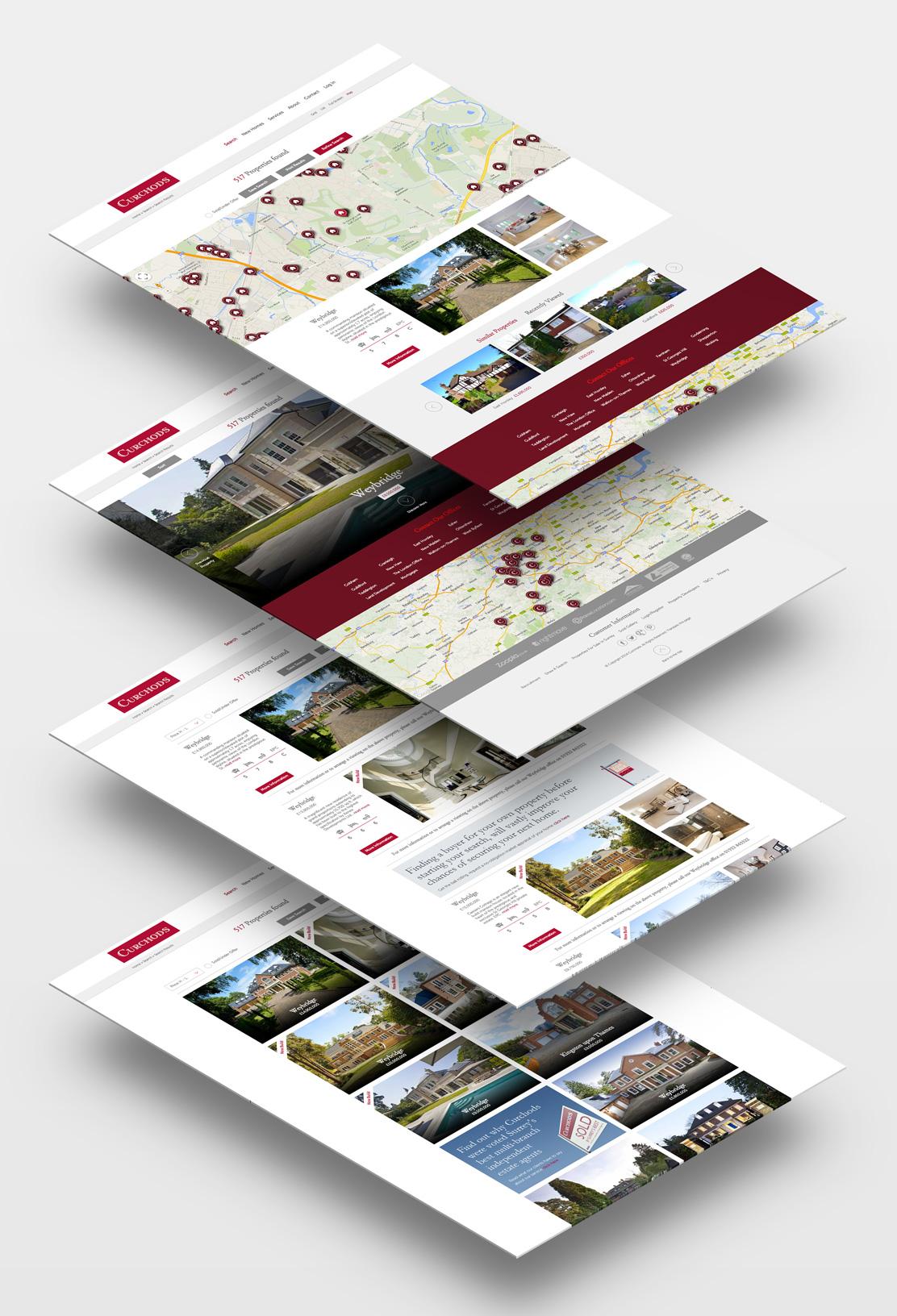 Curchods site pages