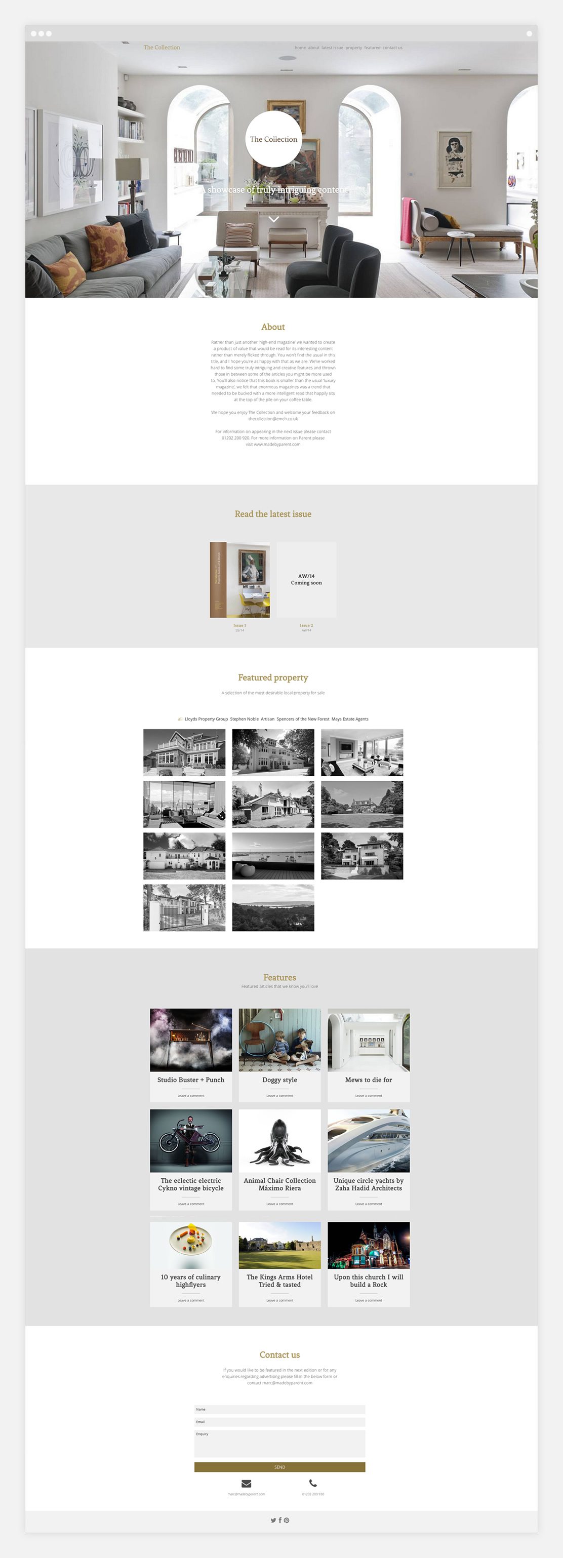 The collection website