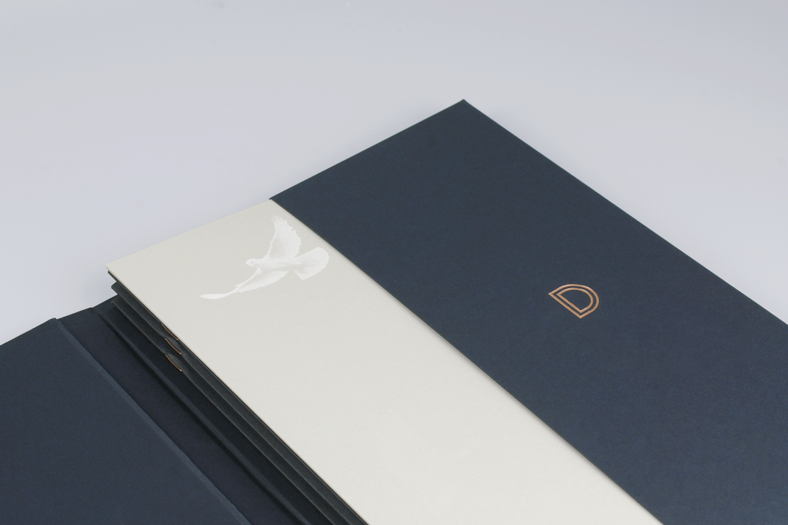 A4 folder with business card holder