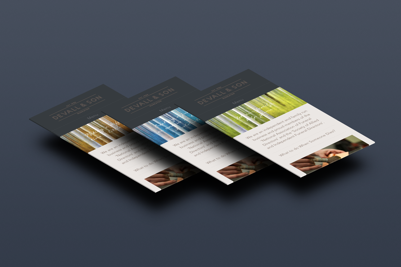 Mobile optimised website homepage