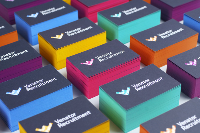 Venator recruitment business cards designed by Parent